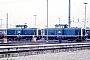 """Krauss-Maffei 18886 - DB """"211 290-2"""" 05.05.1985 Heilbronn,Bahnbetriebswerk [D] Ernst Lauer"""