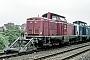 """MaK 1000128 - DB """"211 110-2"""" 02.04.1989 Heilbronn,Bahnbetriebswerk [D] Ernst Lauer"""