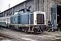 """MaK 1000140 - DB """"212 010-3"""" 16.10.1988 Worms,Bahnbetriebswerk [D] Ernst Lauer"""