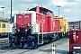 """MaK 1000324 - DB """"214 277-6"""" 25.04.1991 Mannheim,Bahnbetriebswerk [D] Ernst Lauer"""
